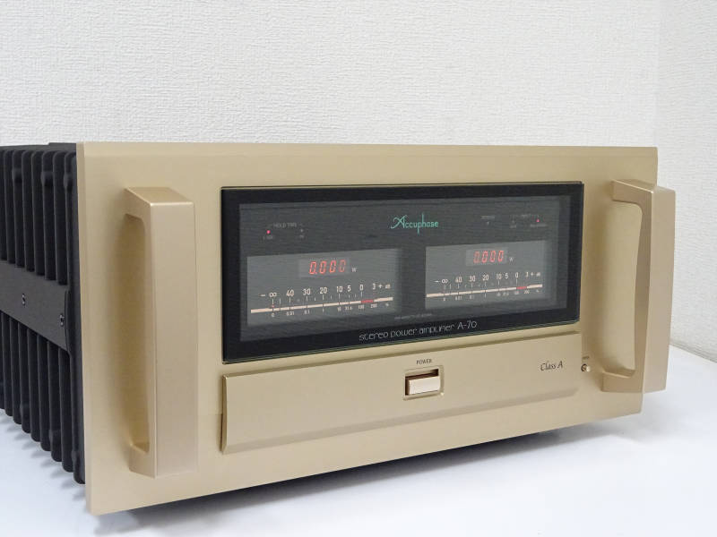 Accuphase アキュフェーズ A-70 純A級ステレオパワーアンプ 福島県海津若松市にて買取させていただきました!!