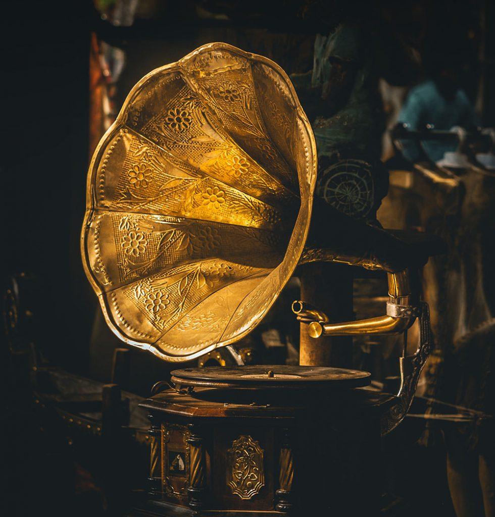 蓄音機の写真